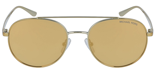 000f557d0 Michael Kors Lon Round Aviator Sunglasses w/ Gold Mirror Lens - MK1021  11687P 53
