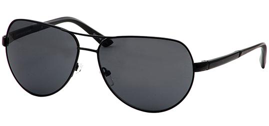 55b8e6079ff Perry Ellis Men s Black Classic Aviator Sunglasses w  Spring Hinges ...