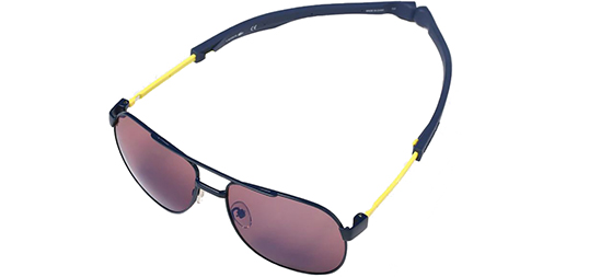 c2b897c933f Lacoste Men s Magnetic Metal Aviator Sunglasses w  Blue Flash Lens - L186S  424