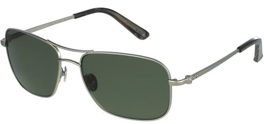 79c7d7b9fc Calvin Klein Collection Men s Silver Polarized Navigator Green Lens ...