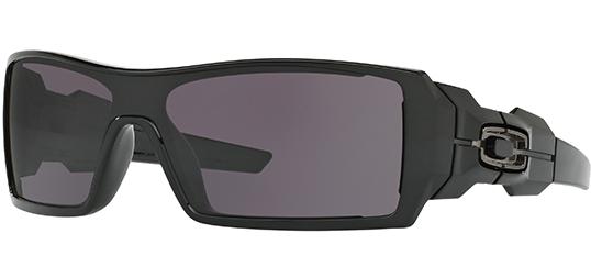 Oakley Oil Rig Men s Polished Black Sunglasses w  HD Optics - OO9081 ... 6630c4f228