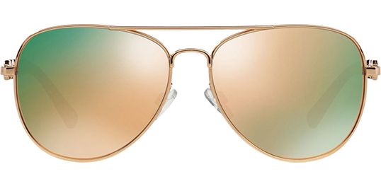 fe5c734c5dc Michael Kors Fiji Women s Rose Gold Sunglasses w  Mirror Lens - MK1003  1003R5