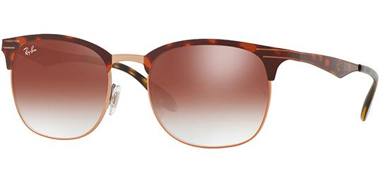 4bdf8a4c5c Ray-Ban Clubmaster Women s Vintage Copper Havana Sunglasses - RB3538 ...