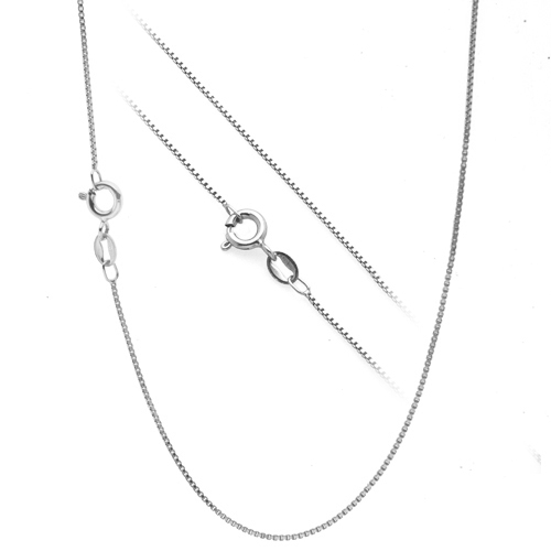 3de091b74cd .925 Sterling Silver .7mm Box Chain Necklace for Pendants -- All Sizes 14