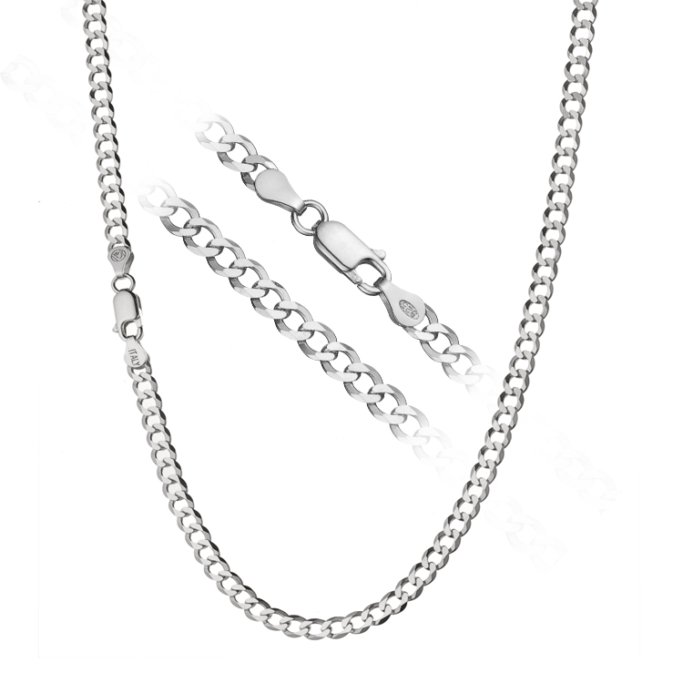 eb19ce76b4f76 925 Sterling Silver Men s Italian 4.5mm Cuban Curb Link Chain Necklace ALL  SIZES